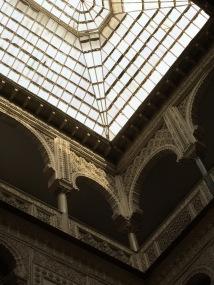 An interior courtyard at the Alcazar