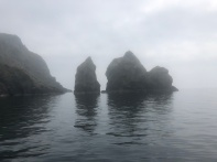 Misty morning view from Paddy's boat, headed out to view the Slieve Liag cliffs.