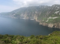 A misty view of the cliffs of Slieve Liag.