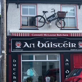 Shop front in Ardara.