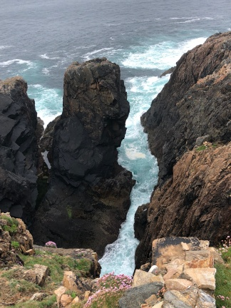 Rocky gorge in the coast on Arranmore Island.