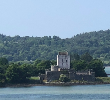Doe Castle, a picturesque ruin overlooking Sheep Haven Bay.