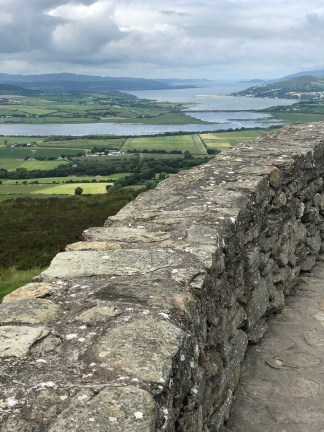 The view from the top tier of the iron-age ring fort at Grianan of Aileach.