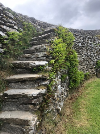 Staircase on the interior wall of the ancient ring fort at Grianan of Aileach.