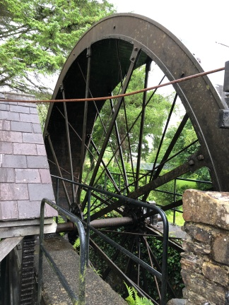 The great iron water wheel at Newmills