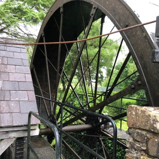 The great water wheel at Newmills.